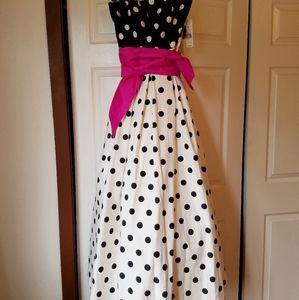 Eliza J designer prom dress.